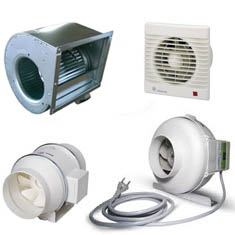 Réseau de ventilation-extracteur d'air - gaine - conduits
