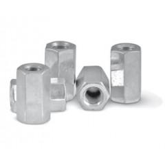 Ecrous Jonction Femelle Acier - M8 / 100 unités-Ecrous Jonction Femelle Acier - M8 / unité-extracteur d'air - gaine - conduits