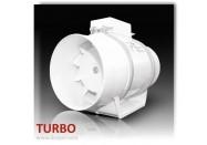 Extracteur d'air Axial - DOSPEL - TURBO 100 - diam. 100 mm - 160 m3/h