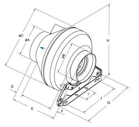 schema-reseau-ventilation-extracteur-axial-domestique-systemair-gamme-rvk-oxygen-industry