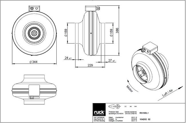 schema-reseau-ventilation-extracteur-centrifuge-ruck-rk160-ls-oxygen-industry